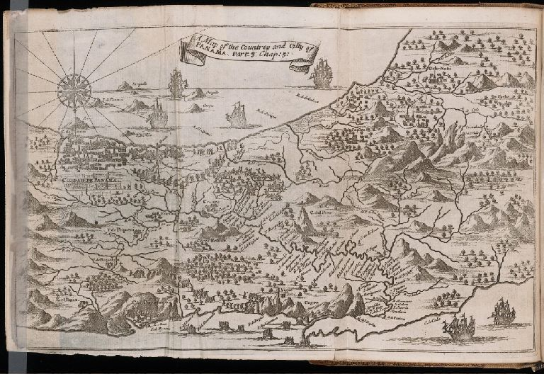 A Map of the Countrey and Citty of Panama. Part 3: Chap: 5.