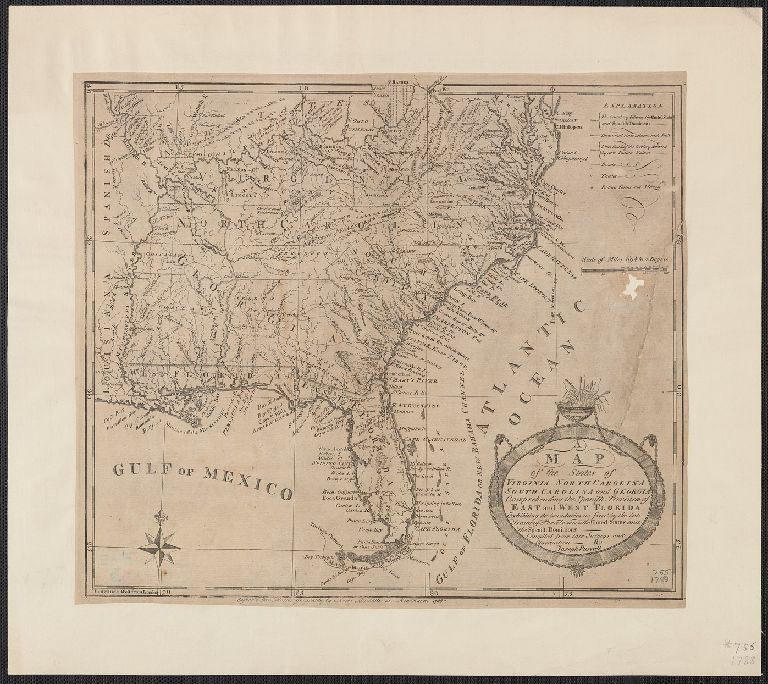 A map of the states of Virginia, North Carolina, South Carolina and Georgia [cartographic material] : comprehending the Spanish provinces of East and West Florida, exhibiting the boundaries as fixed by the late treaty of peace between the United States an