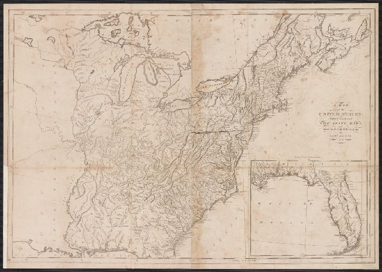 A Map of the United States: compiled chiefly from the State Maps, and other Authentic Information, by Saml. Lewis.