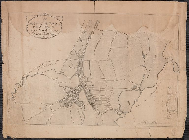 A map of the Town of Providence, from Actual Survey, by Daniel Anthony 1803.