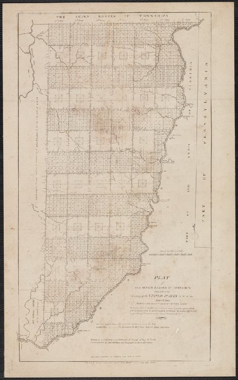 Plat of the seven ranges of townships being part of the territory of the United States n.w. of the river Ohio ...