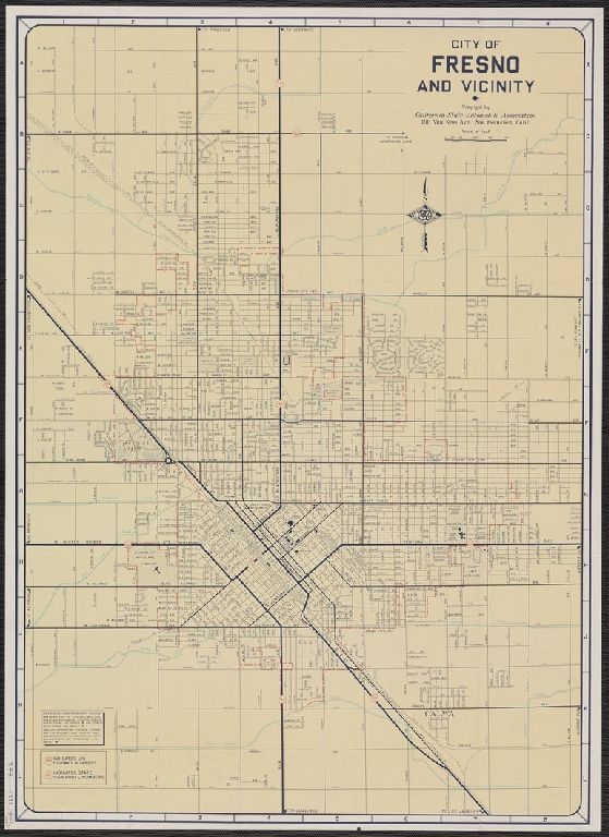 City of Fresno and vicinity / map issued by California State Automobile Association.