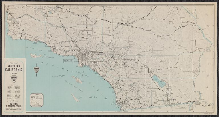 Road map of Southern California : section 4 / prepared by Engineering Department, National Automobile Club.
