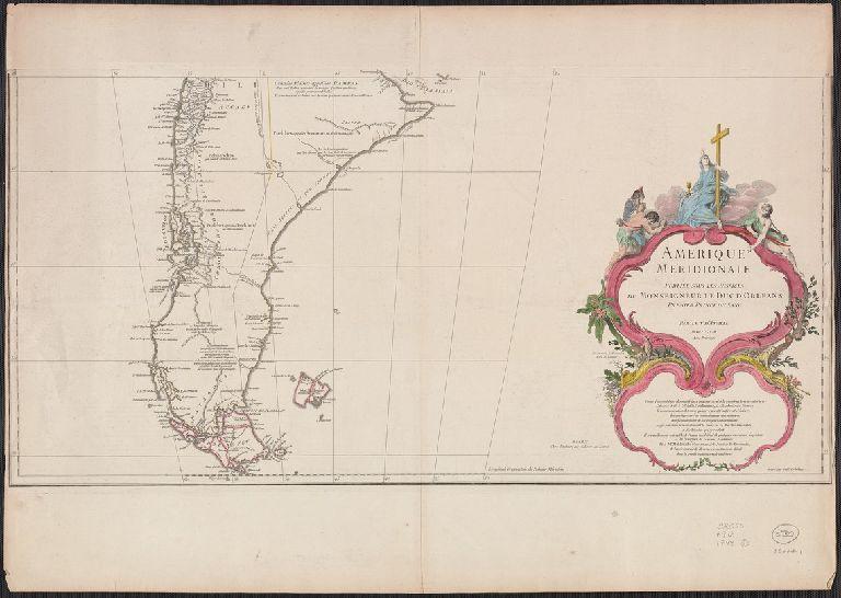 Amérique méridionale : publiée sous les auspices de Monseigneur le Duc d'Orleans prémier prince du sang / par le Sr. D'Anville.