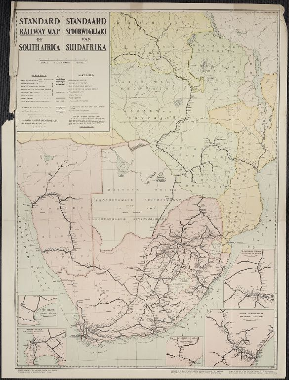 Standard railway map of South Africa / drawn in the office of the Chief Civil Engineer, S.A.R., Johannesburg.