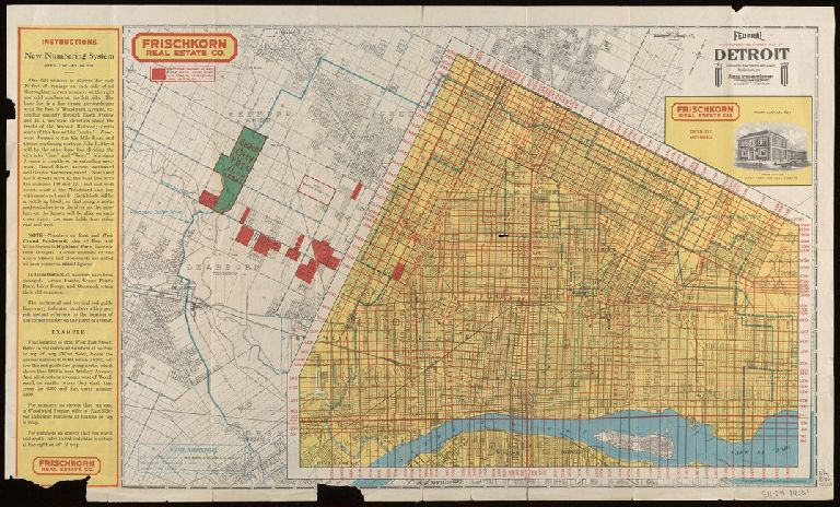Federal new numbering system map of Detroit and environs : showing all streets and changes, new car lines, etc.