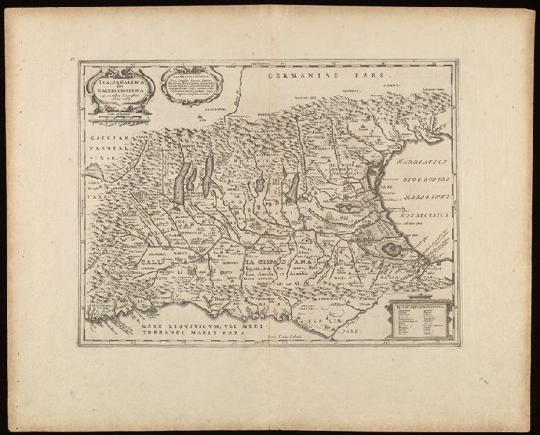 Italia Gallica, sive, Gallia Cisalpina / ex conatibus geographicis Abrah. Ortelij.